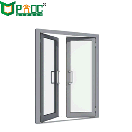 China Good Price Aluminum Outswing Casement French Glass Flush Door