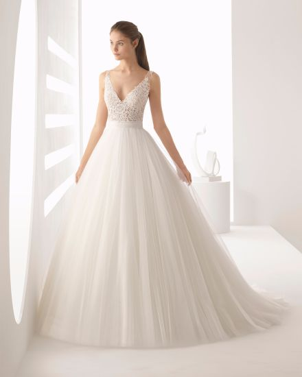 The Results Of The Research A Line Wedding Dress With Tulle Skirt,Country Wedding Dresses For Mother Of The Groom