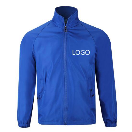 China Wholesale Sport Wear Sublimation Fleece Blue Jacket