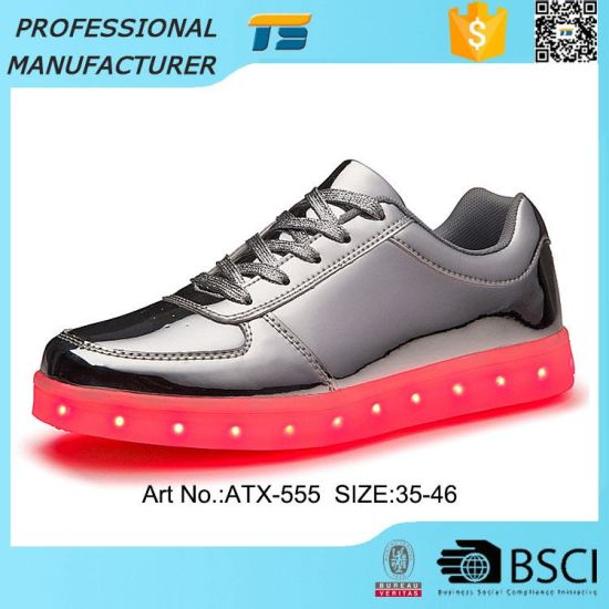 pretty nice cf6d8 1fb2d China Latest LED Light Shoes Sneaker Adult Lighting Battery ...
