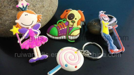 Custom PVC 3D Souvenir Keychain for Promotional Keychain