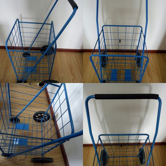 Metal Wire Cart, Shopping Trolley with Big Capacity