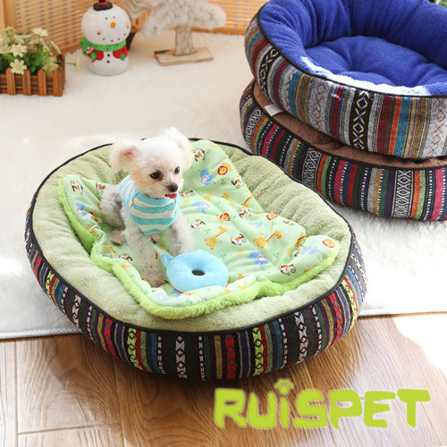 Pet Product Circle Flcoked Dog Bed
