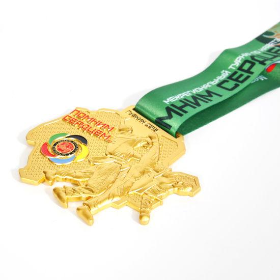 Wholesale New Design Custom Wrestling Golden Sport Medal