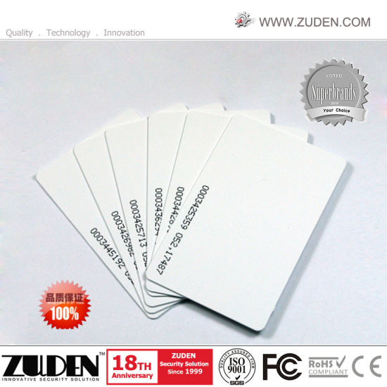 125kHz Em Chip Access Control ID Smart Card pictures & photos