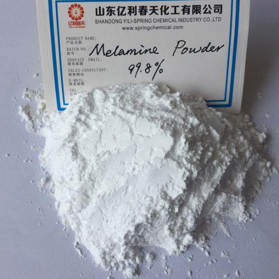 Industry Grade White Powder Melamine 99.8% for Resin