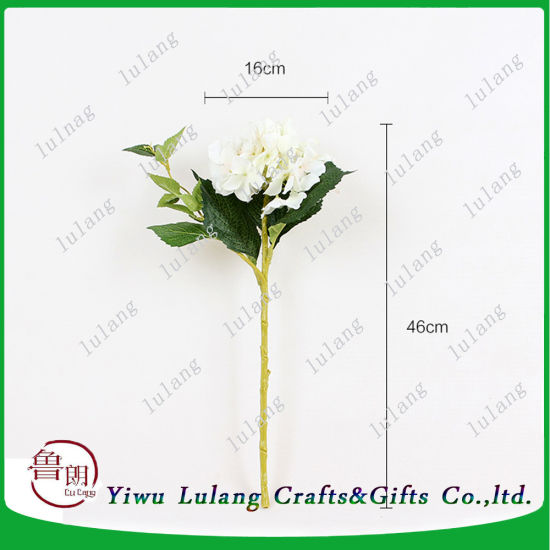 China Small Decoration Flowers Of Artificial Hydrangea Flower Stick