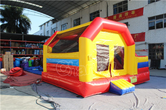 Red & Yellow Inflatable Bouncy Castle with Slide Chb715 pictures & photos