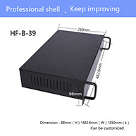 2u Iron Enclosure Box Network Cabinet Case DIY Metal Electronics Case Electronic Device Housing