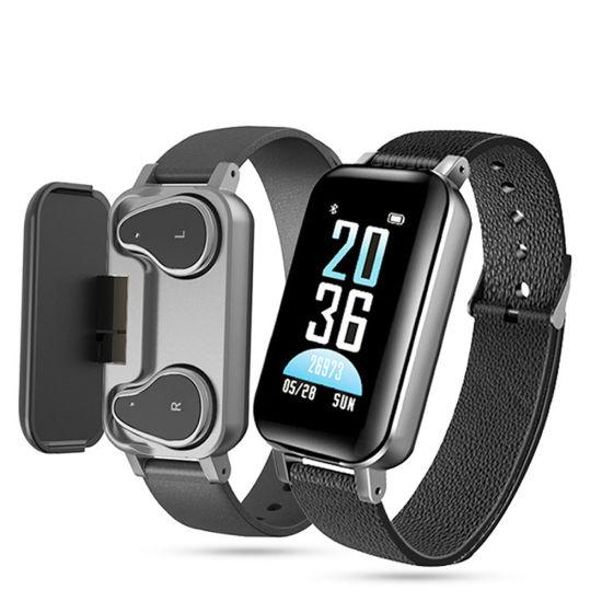 Tws Smart Bracelet Heart Rate Blood Pressure Smart Watch with Tws Earphones