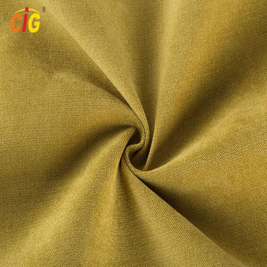 Yellow Soft Polyester Velvet Fabric for Sofa / Furniture All Colors Are Available