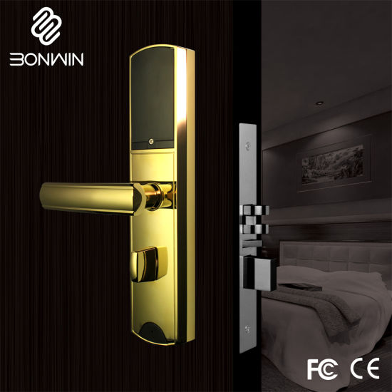 Network Type Hotel Card Sensor Door Lock with Remote Control Function pictures & photos
