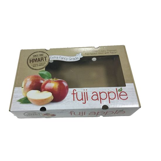Glossy Finish Printed Fruit Apple Box with PVC Window pictures & photos
