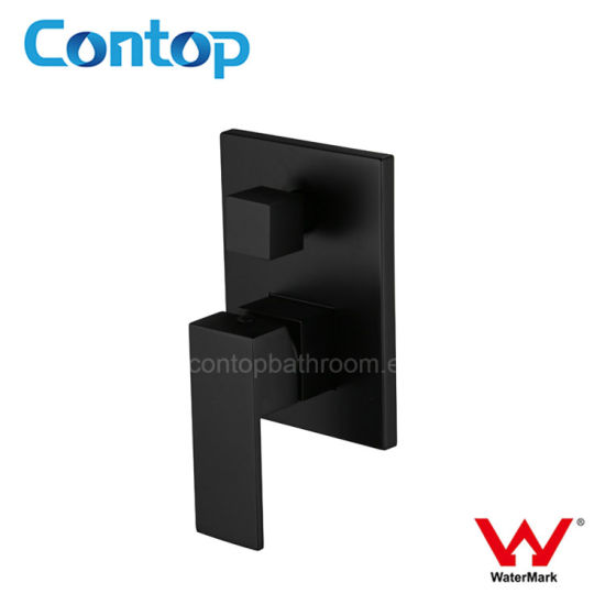 Watermark Approval Matte Black Shower Mixer with Divertor