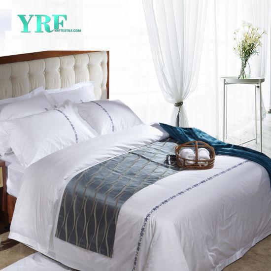 Comforter Sets Bedding Embroidery Logo Bed Sheets Set Hotel Supplies