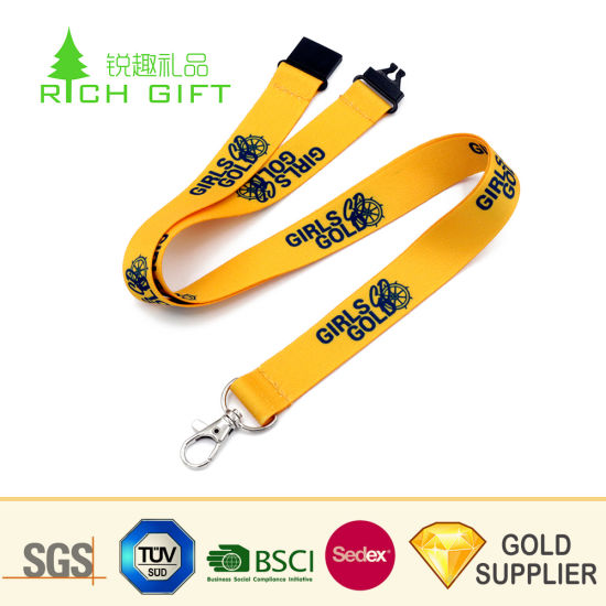Wholesale Low Price Custom Single Sided Silk Screen Printing School Lanyards No Minimum Order pictures & photos