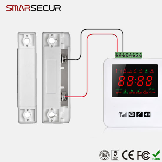 Wired Window Alarm Sensors | China Wired Door Window Sensor Magnetic Switch For Alarm System