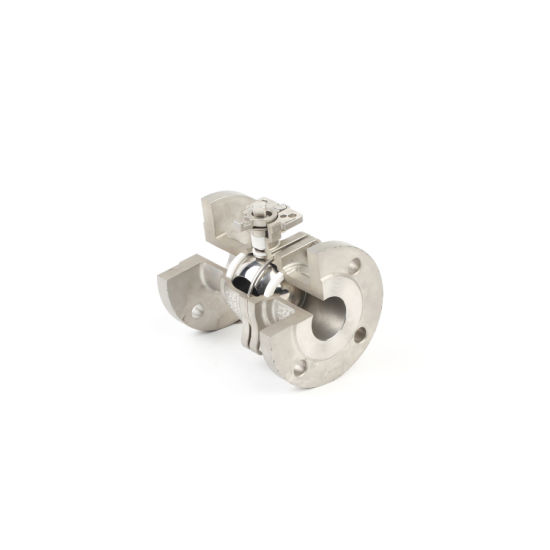 Manufacture Stainless Steel Flanged Ball Valve DIN/AISI Standard pictures & photos