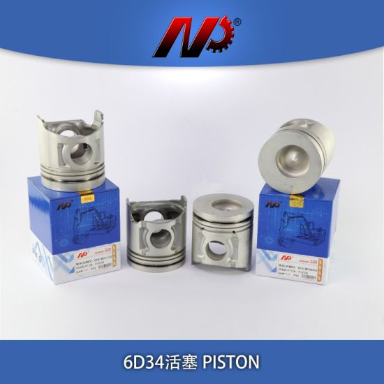 Mini Excavator Diesel Engine Spare Parts Piston For MISUBISHI 6D34