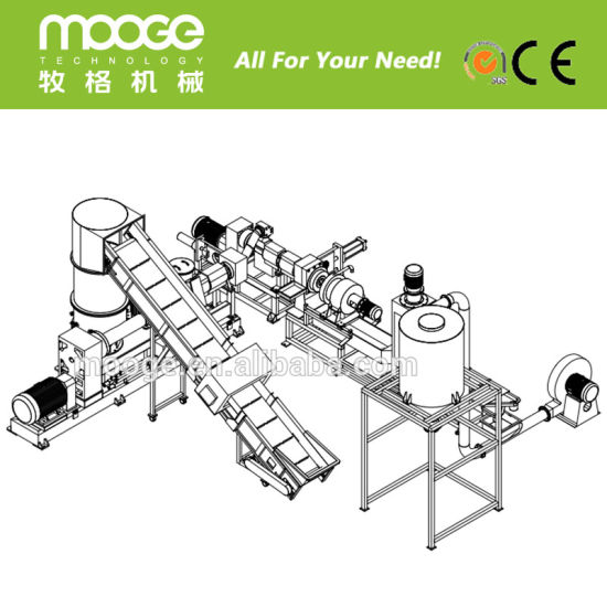 Waste Recycle Plastic PP PE ABS PC PVC Single screw Granule Making Machine pictures & photos