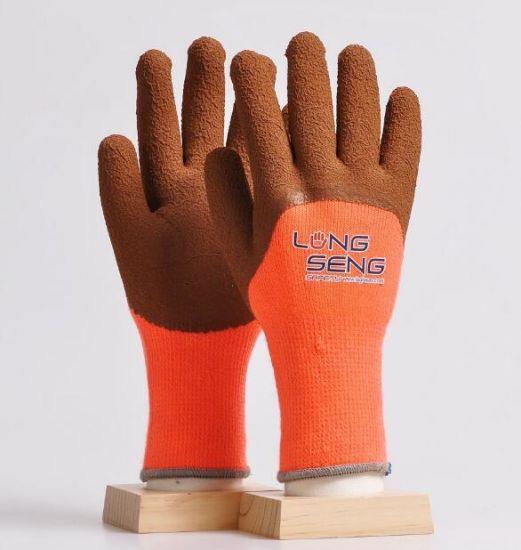 7g Acrylic Fleece Liner Coated Latex Foam Soft Winter Warm Work Safety Glove
