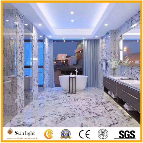 New Exclusive Persa Blue Ice White Marble Slabs & Tiles for Project