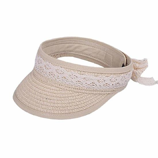 10d5b9c177a77 Sun Hat for Kids Foldable Straw Hat Lace Bowknot Hat Girls Sun Visor Beach  Hat pictures