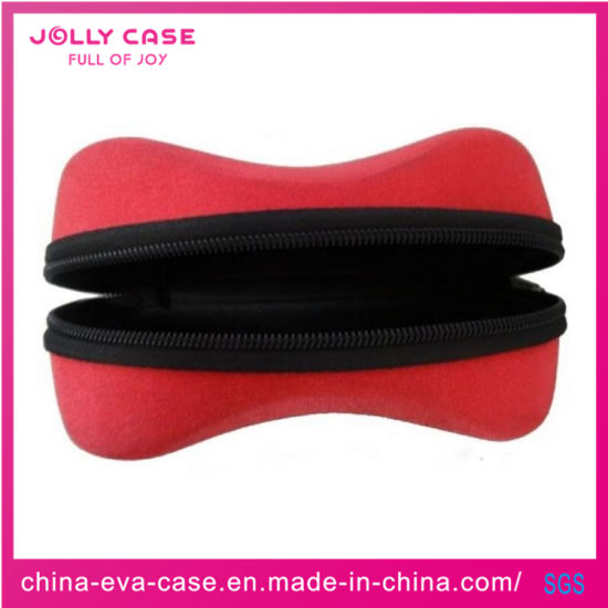 China EVA Case Red Shockproof Protective Soft Pouch Sunglass Case/Glass Case/Glasses Case