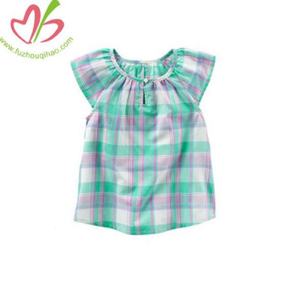 Fashion Summer Plaid Little Girl Blouse