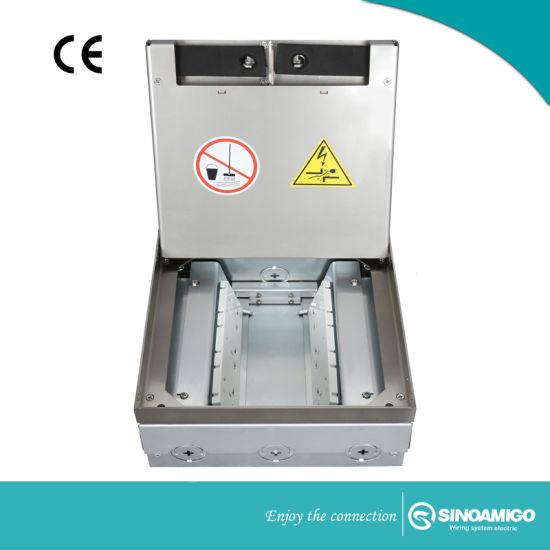 Sinoamigo Open Type Floor Box Outlet for Concrete Floor