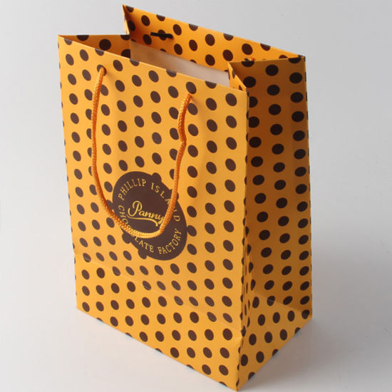 Custom Logo Printed Recycled Cardboard Paper Bags Gift Packing Packaging Carton Box with Handles