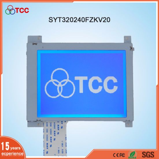 Industrial 3 8inch 320X240 Graphic LCD Module Stn/Blue Display Mode Ra8806  Controller LCD Screen
