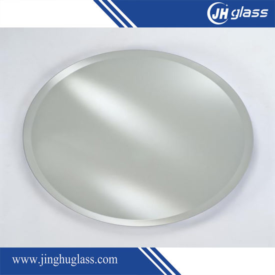 China Frameless Silver Bathroom Mirror Glass With Polished Edge