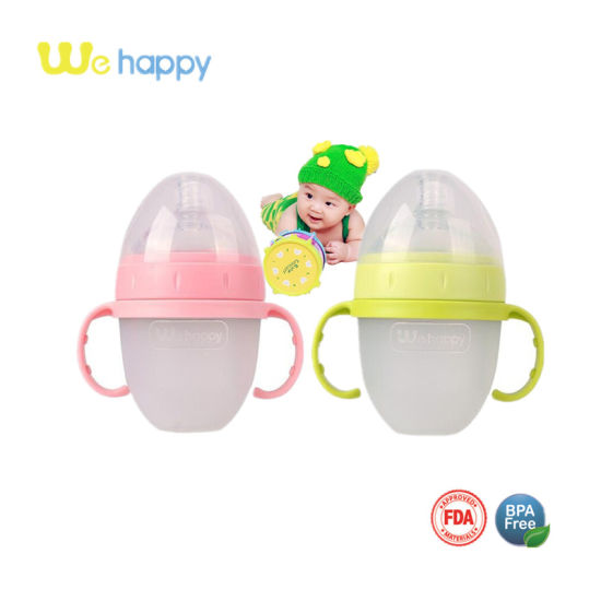 Wholesale New Squeeze Silicone Baby Bottle 150ml for Newborn Baby pictures & photos