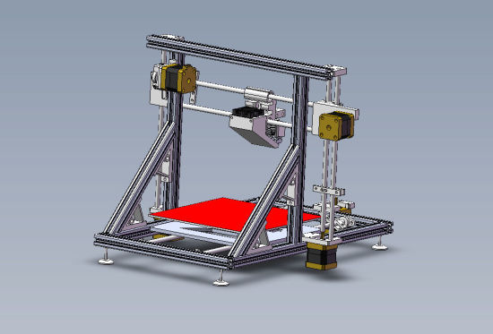 Aluminum Extrusion Profile Cabinet Frame for 3D Printer pictures & photos