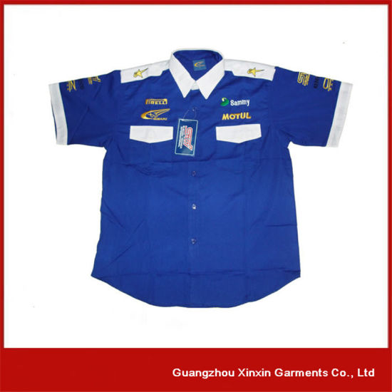 Wholesale Embroidery Motorcycle Shirt with Your Own Logos (S93) pictures & photos