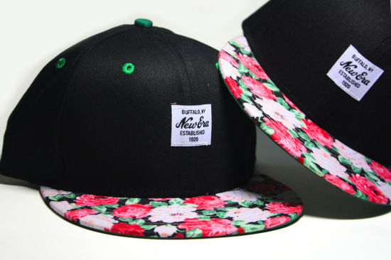 Fashion Flower Design Sport Truck Flat Snapback Cap pictures & photos