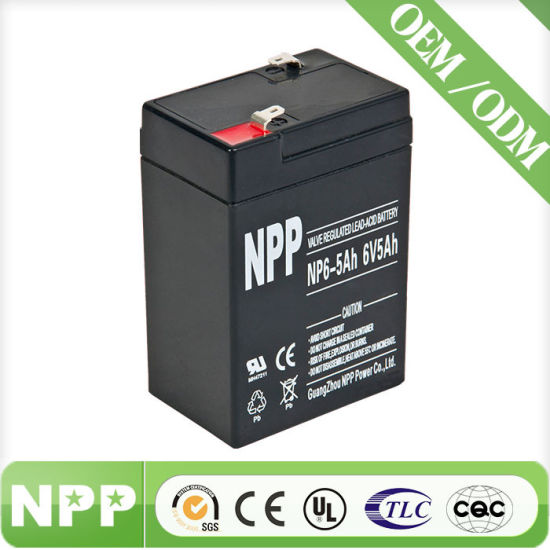Good Performance Sealed Lead Acid Battery 6V5ah for UPS Use