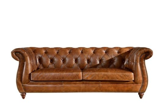 Genuine Leather Chesterfield Sofa