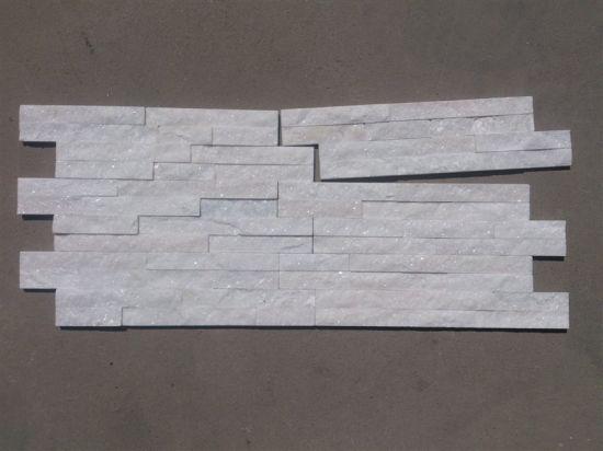 Pure White Quartzite Stack Stone For Wall Sss 44
