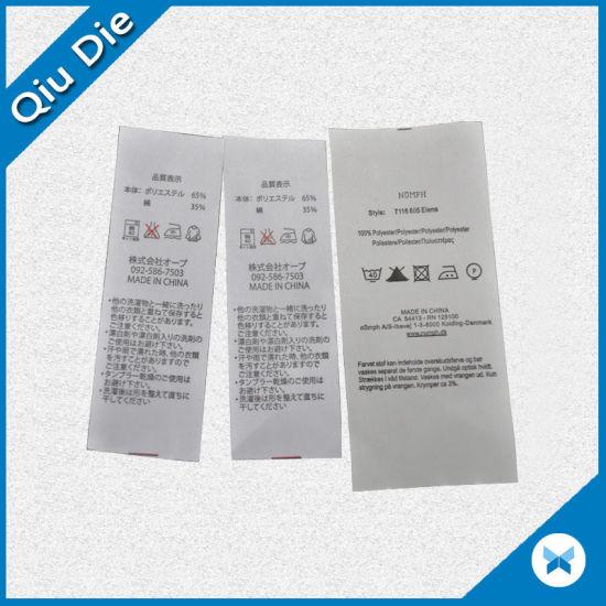 China Oem Factory Supply Printing Label Washing Label Instruction