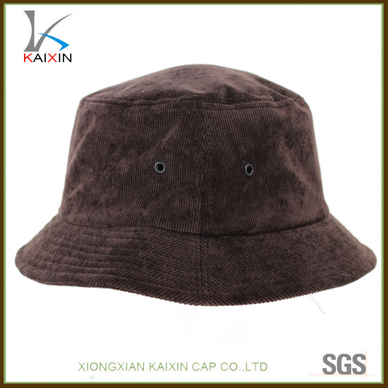991f49c6fc0 China Custom Plain Blank Corduroy Bucket Hat with Your Own Logo ...