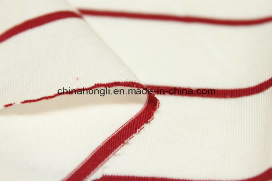 Modal/Cotton 50/50, 140GSM, Stripe Single Jersey Knitting Fabric with High Quality