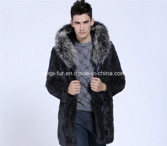 2014 New Winter Faux Rabbit Fur Coat for Men Qy-A2