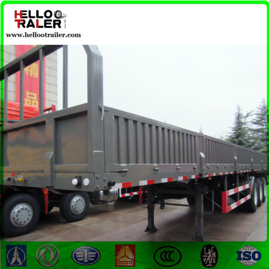 Made in China Leaf Spring Suspension 13m Length Cargo Trailer pictures & photos