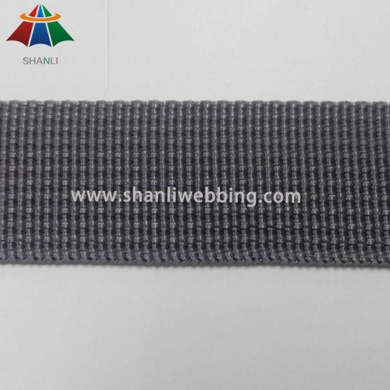 1 Inch Grey Grooved Polypropylene Webbing for Helmet