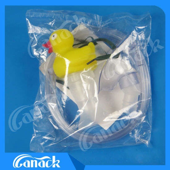 Ce ISO Approval Duck Hand Hold Nebulizer Mask Kits pictures & photos