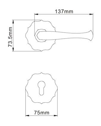 Forged Solid Brass Office Door Lever Handle Lock pictures & photos