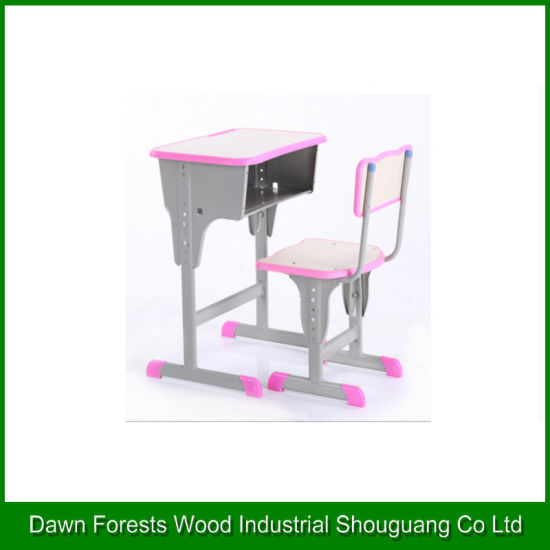 Durable School Desk and Chair for Students Using