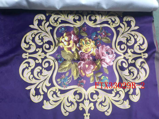 New design 3D Embossed Cheap Spandex Velvet Knitting Fabric pictures & photos